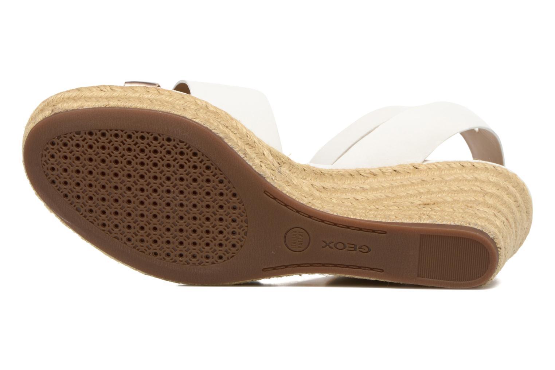Sandales et nu-pieds Geox D SOLEIL C D62N7C Blanc vue haut