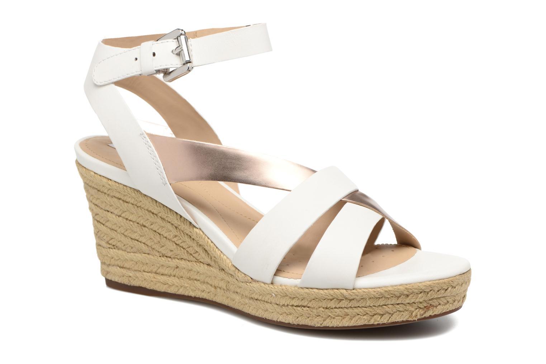 Sandales et nu-pieds Geox D SOLEIL C D62N7C Blanc vue détail/paire
