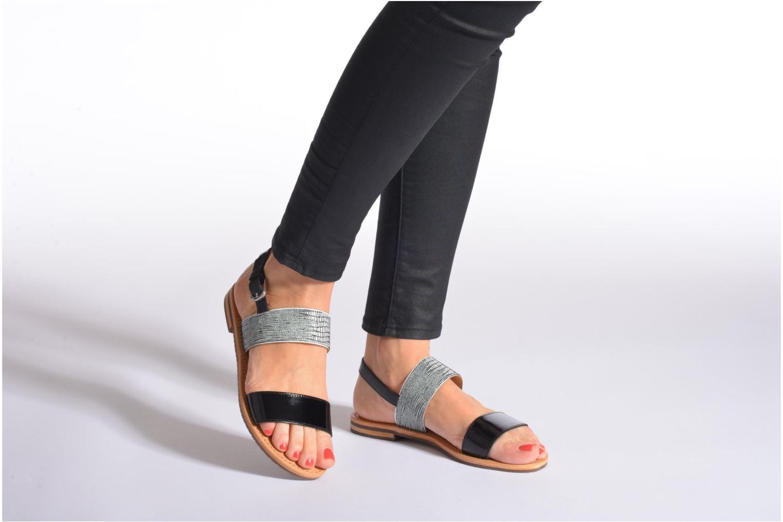 Sandales et nu-pieds Geox D SOZY A D622CA Noir vue bas / vue portée sac