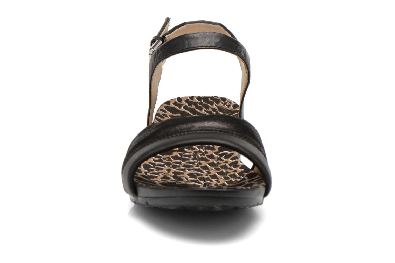 Sandales et nu-pieds Geox D FORMOSA C D6293C Noir vue portées chaussures