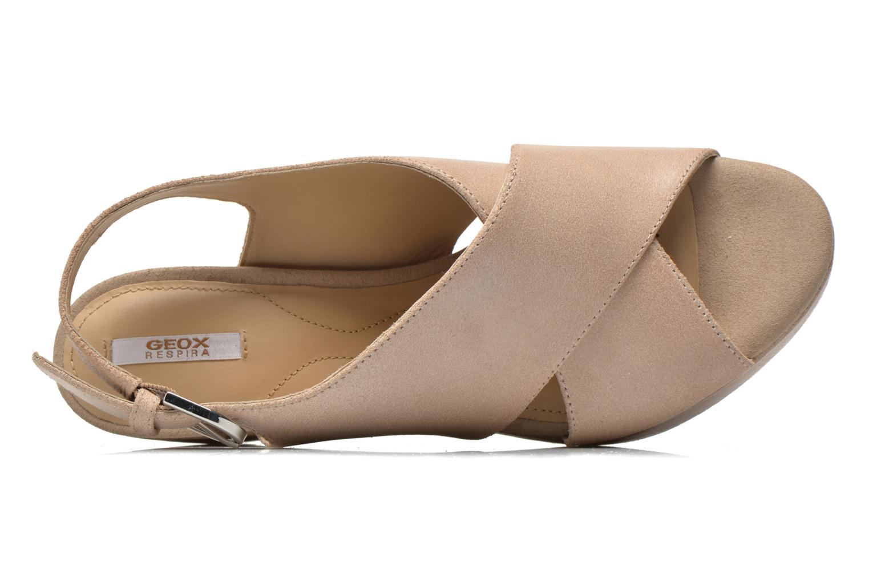 Sandali e scarpe aperte Geox D THELMA B D62N9B Beige immagine sinistra
