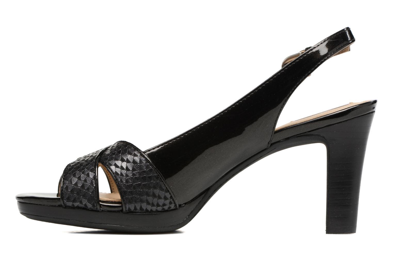Sandales et nu-pieds Geox D LANA B D62Q6B Noir vue face
