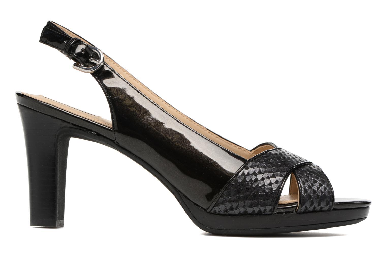 Sandales et nu-pieds Geox D LANA B D62Q6B Noir vue derrière