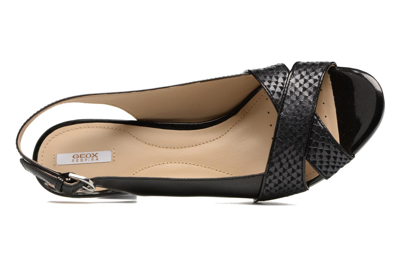 Sandales et nu-pieds Geox D LANA B D62Q6B Noir vue gauche