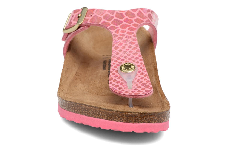 Tongs Birkenstock Gizeh Birko Flor Rose vue portées chaussures
