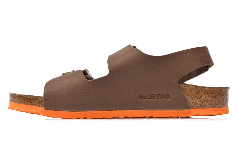 Sandales et nu-pieds Birkenstock Milano Kids Marron vue face
