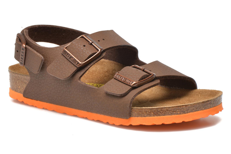 Sandales et nu-pieds Birkenstock Milano Kids Marron vue détail/paire