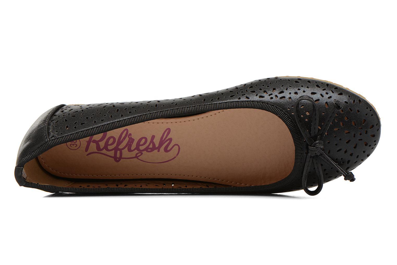 Ballerinas Refresh Coline 61818 schwarz ansicht von links