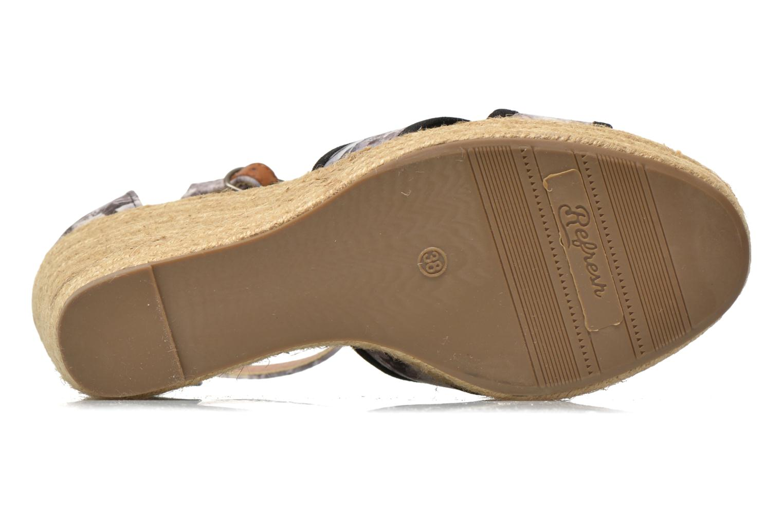 Sandales et nu-pieds Refresh Papaye 61717 Noir vue haut