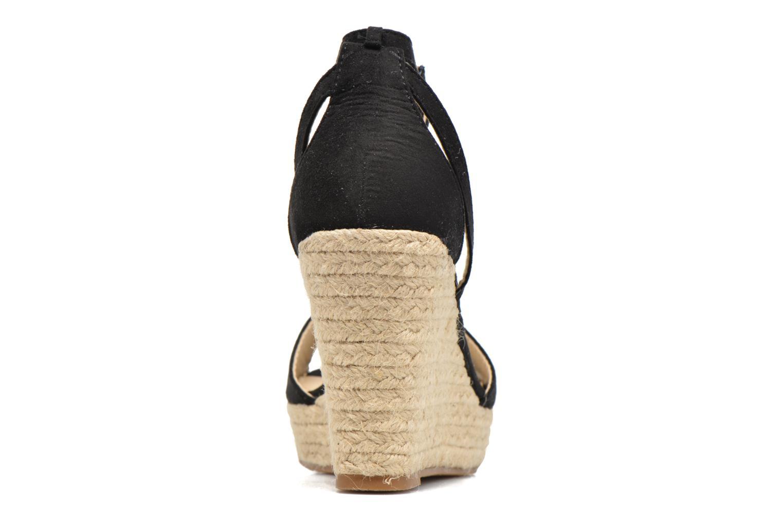 Sandales et nu-pieds Refresh Sunlight 62011 Noir vue droite