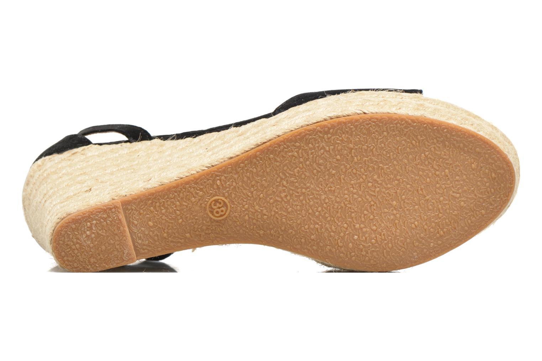 Sandales et nu-pieds Refresh Sunlight 62011 Noir vue haut