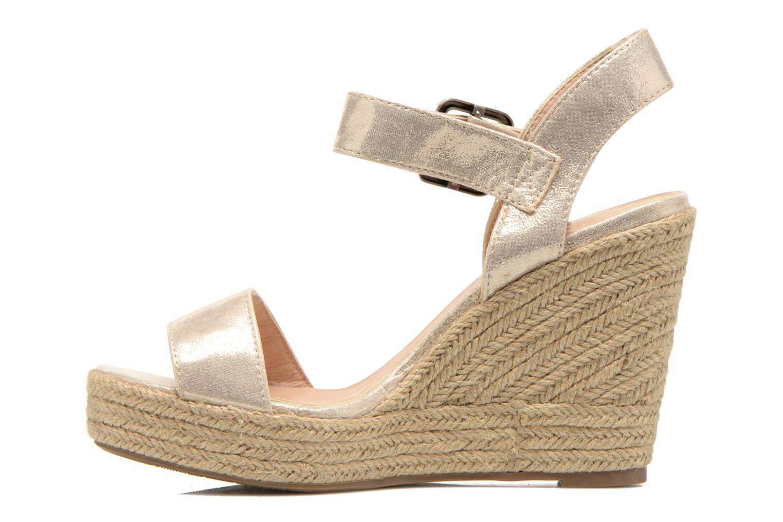Sandales et nu-pieds Refresh Corail 61772 Or et bronze vue face