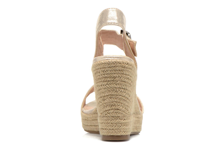 Sandales et nu-pieds Refresh Corail 61772 Or et bronze vue droite
