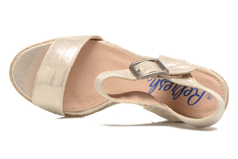 Sandales et nu-pieds Refresh Corail 61772 Or et bronze vue gauche