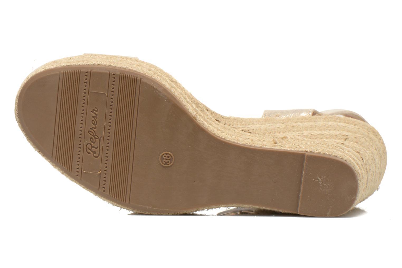 Sandales et nu-pieds Refresh Corail 61772 Or et bronze vue haut