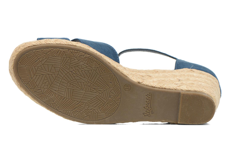 Sandales et nu-pieds Refresh Patelle 62091 Bleu vue haut