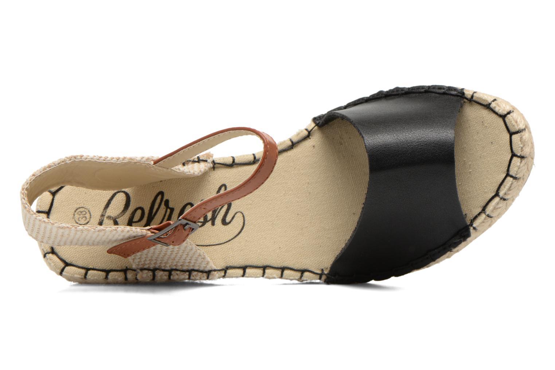 Sandales et nu-pieds Refresh Gipset 62035 Noir vue gauche
