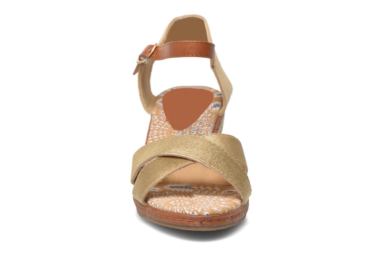 Sandales et nu-pieds Eclipse Espadrille Pétal Or et bronze vue portées chaussures