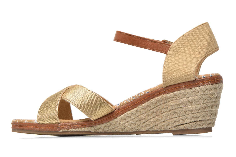 Sandales et nu-pieds Eclipse Espadrille Pétal Or et bronze vue face