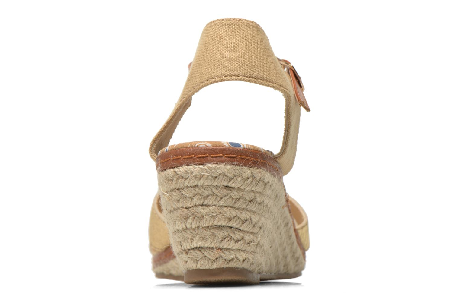 Sandals Eclipse Espadrille Pétal Bronze and Gold view from the right