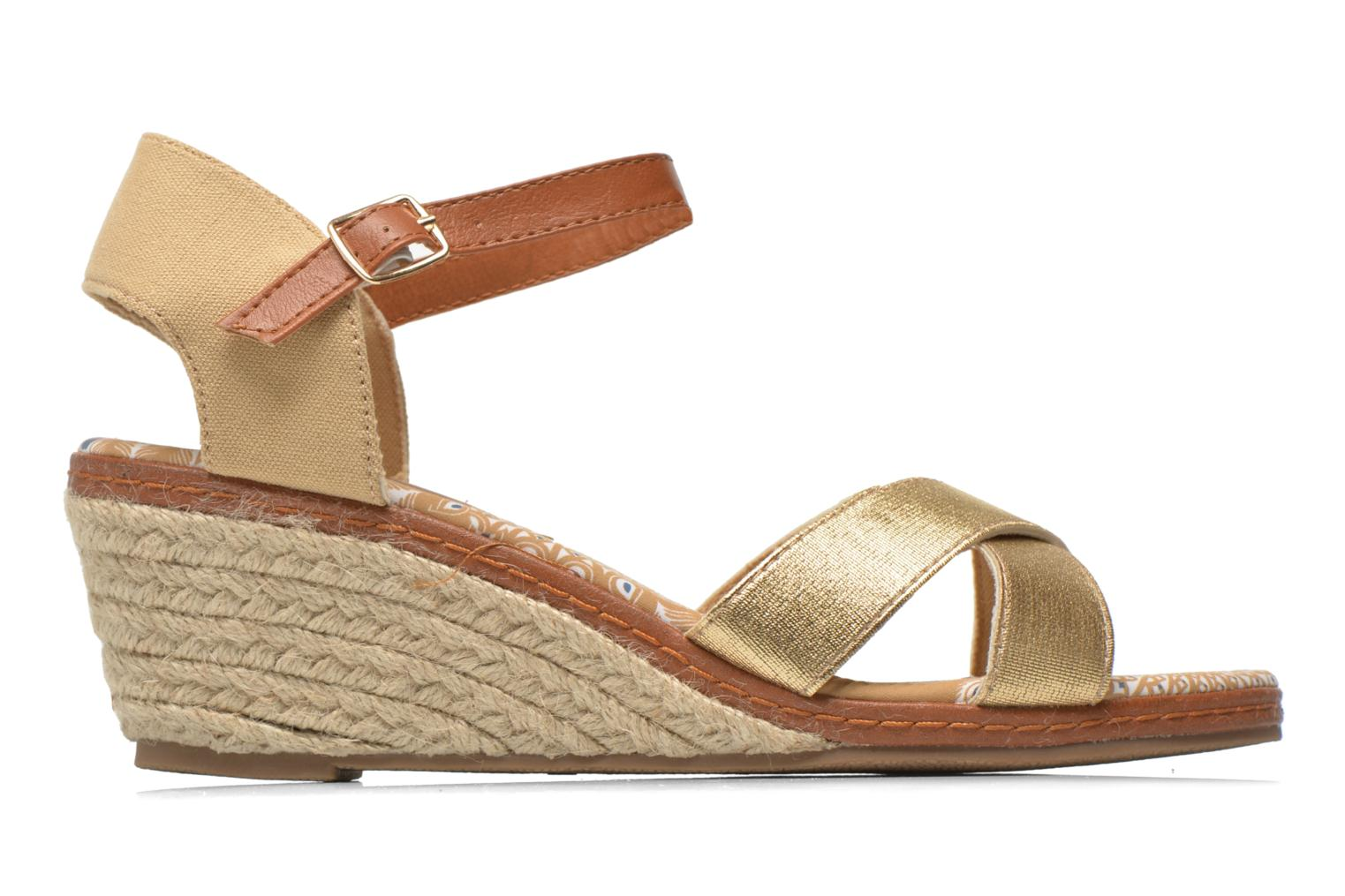 Sandals Eclipse Espadrille Pétal Bronze and Gold back view