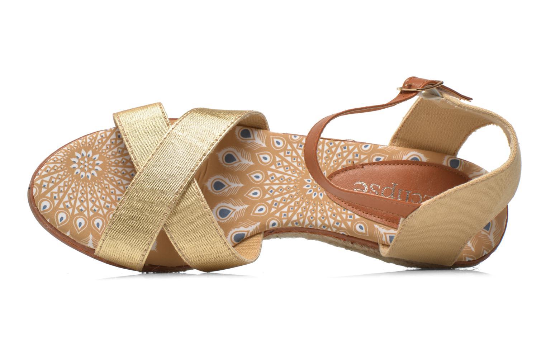 Sandales et nu-pieds Eclipse Espadrille Pétal Or et bronze vue gauche