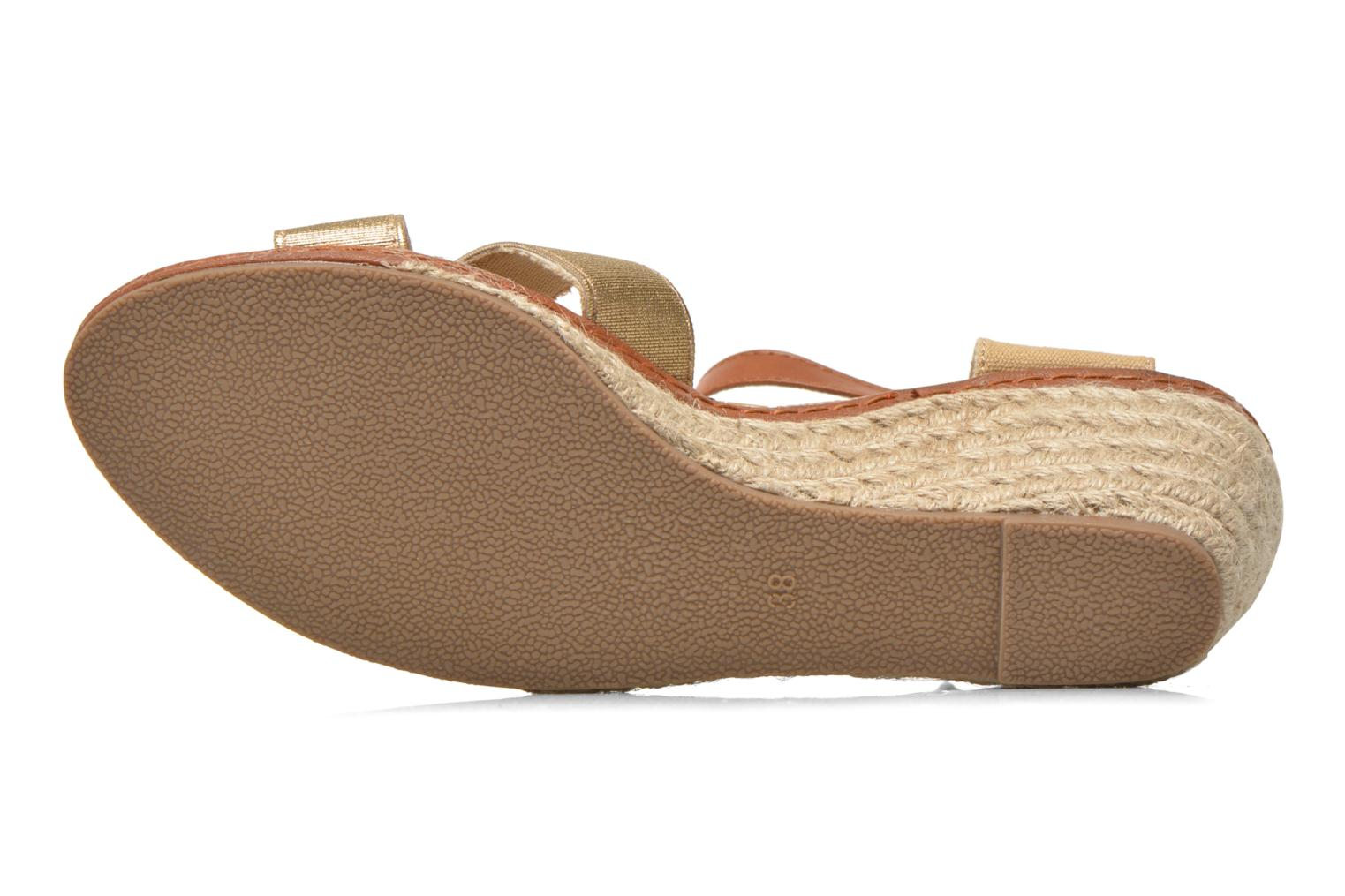 Sandals Eclipse Espadrille Pétal Bronze and Gold view from above