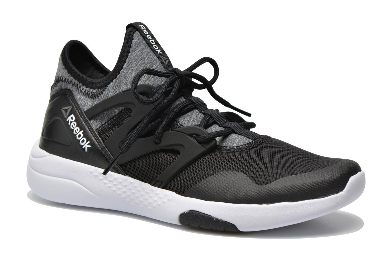 Sport shoes Reebok Hayasu Black detailed view/ Pair view