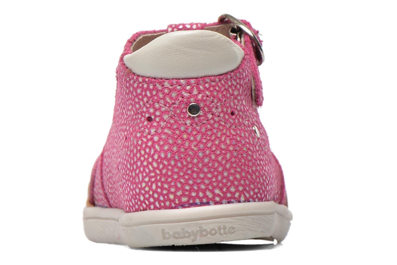 Bottines et boots Babybotte Palmela Rose vue droite
