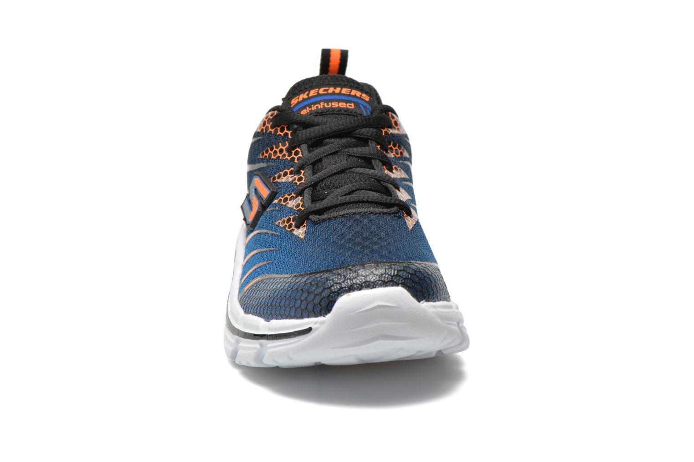 Baskets Skechers Nitrate Bleu vue portées chaussures