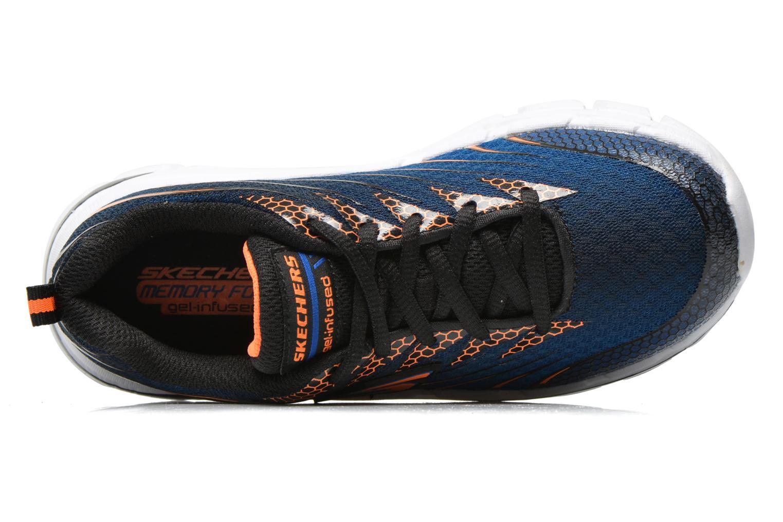 Baskets Skechers Nitrate Bleu vue gauche