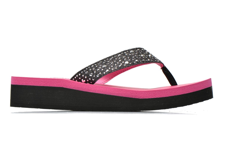 Glitter & Rhinestudded Sandal Black Hot Pink