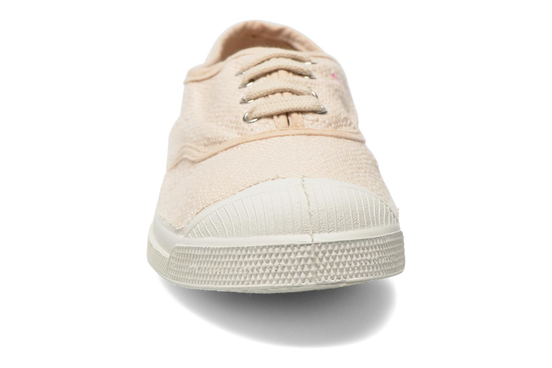 Baskets Bensimon Tennis Lin Beige vue portées chaussures