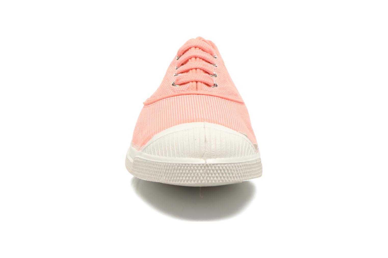 Baskets Bensimon Tennis Mixprint Rose vue portées chaussures