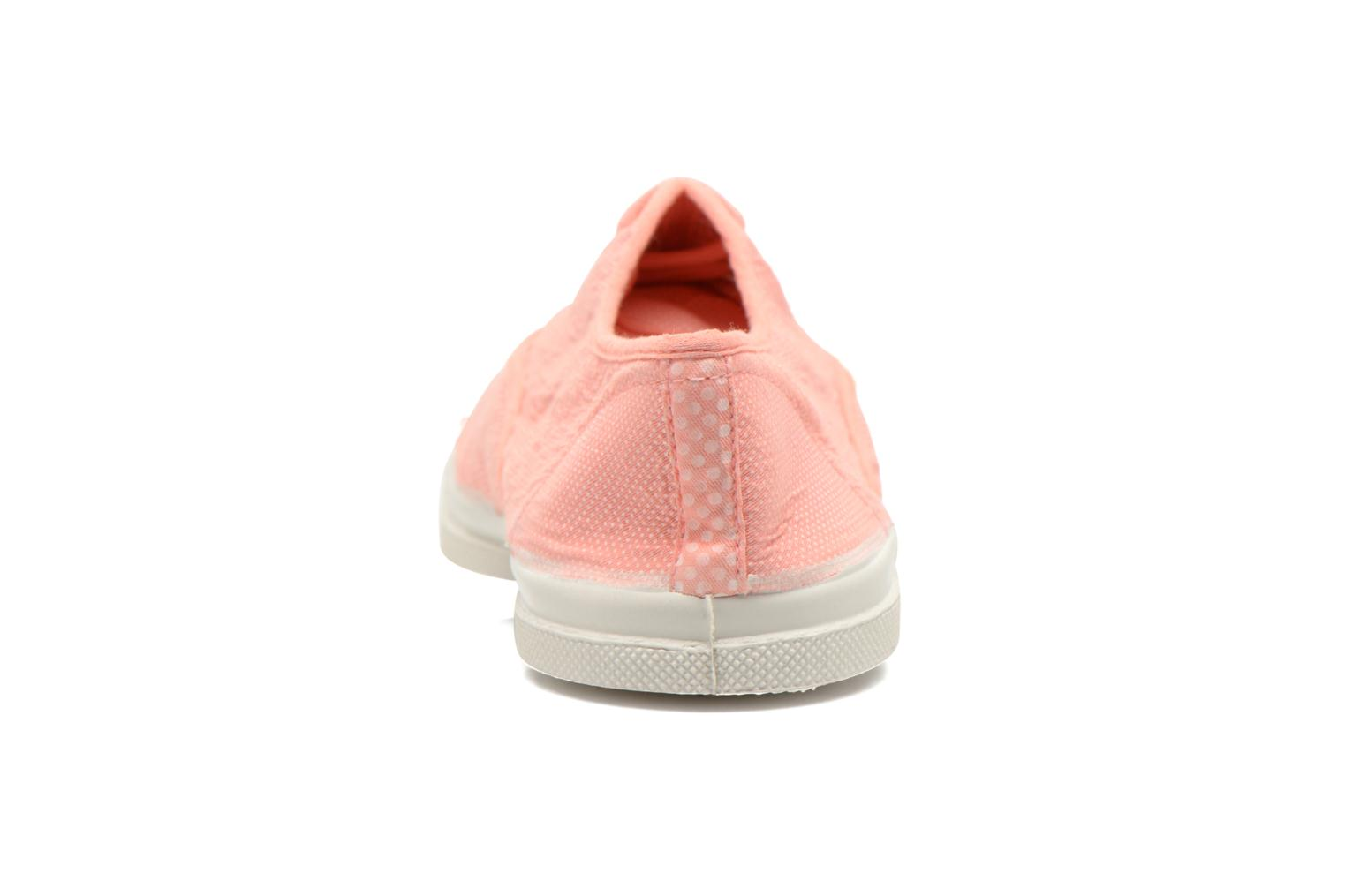 Trainers Bensimon Tennis Mixprint Pink view from the right