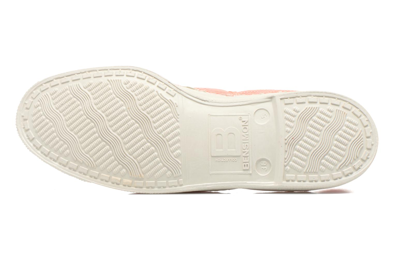 Trainers Bensimon Tennis Mixprint Pink view from above
