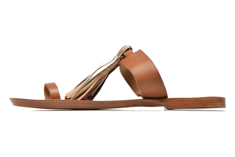 Zuecos Bensimon Sandale Pompon Marrón vista de frente