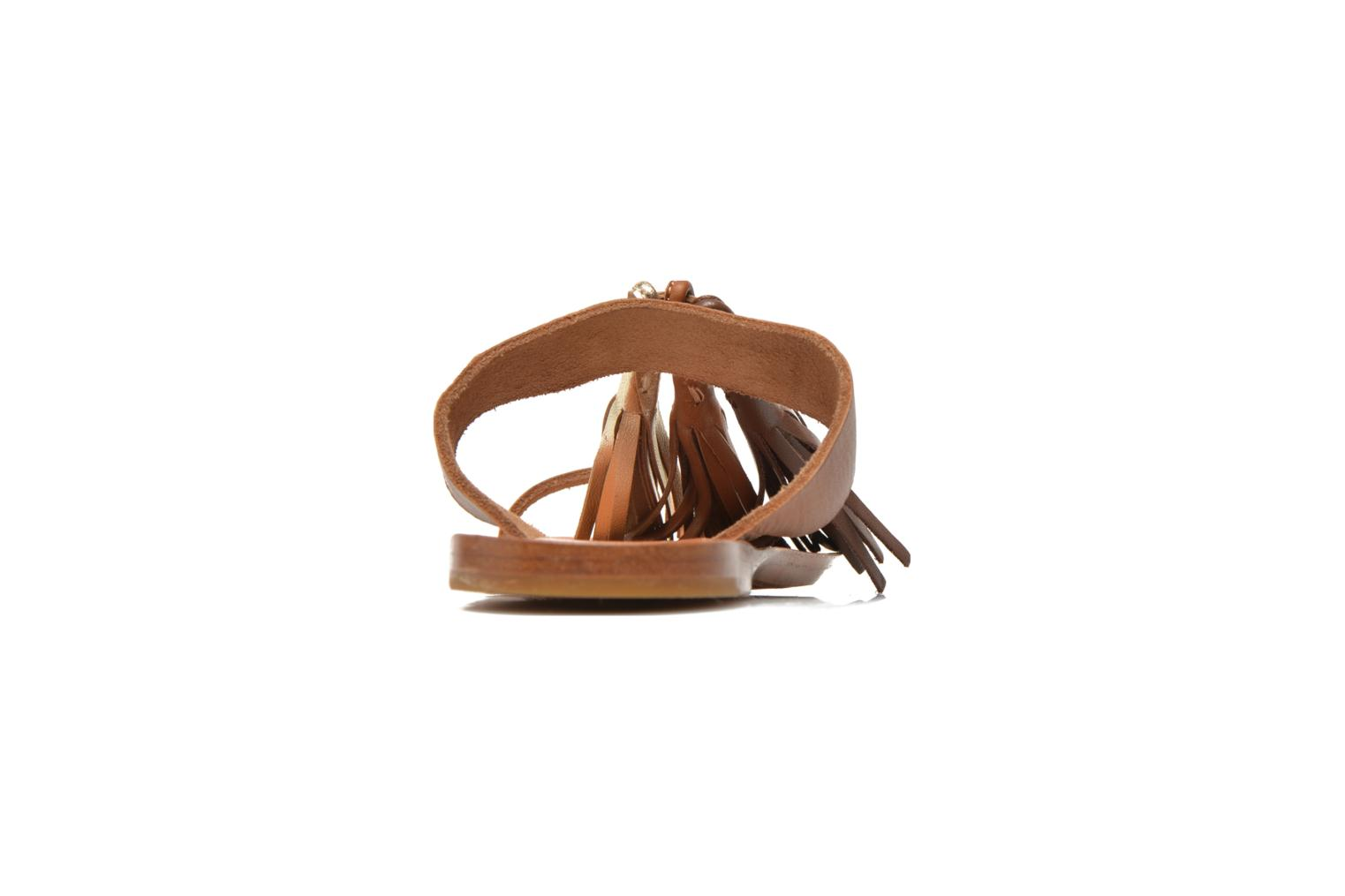 Mules & clogs Bensimon Sandale Pompon Brown view from the right