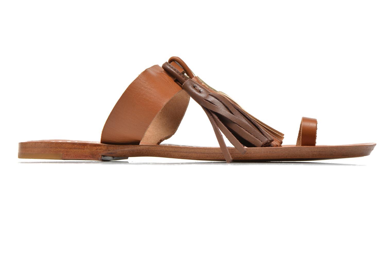 Clogs & Pantoletten Bensimon Sandale Pompon braun ansicht von hinten