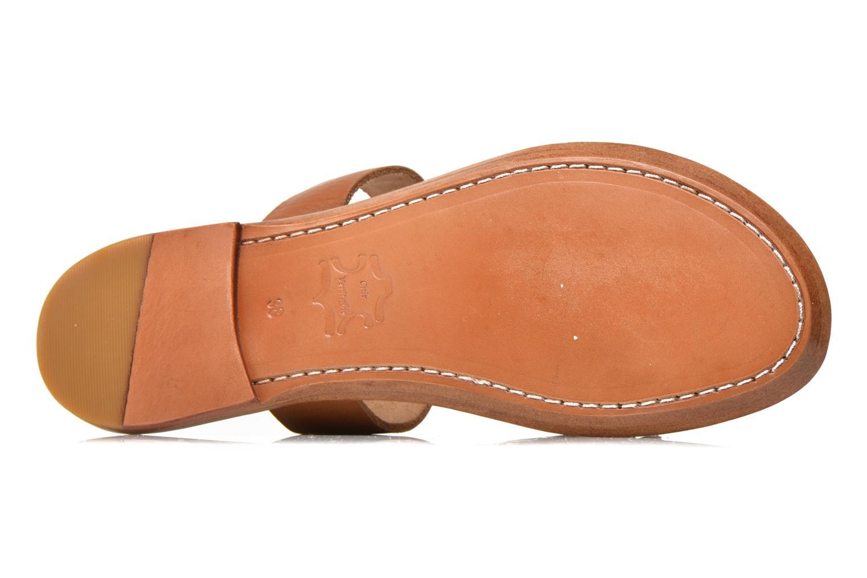 Clogs & Pantoletten Bensimon Sandale Pompon braun ansicht von oben