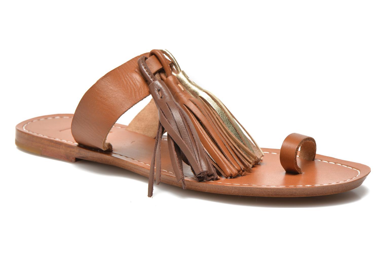 Zuecos Bensimon Sandale Pompon Marrón vista de detalle / par