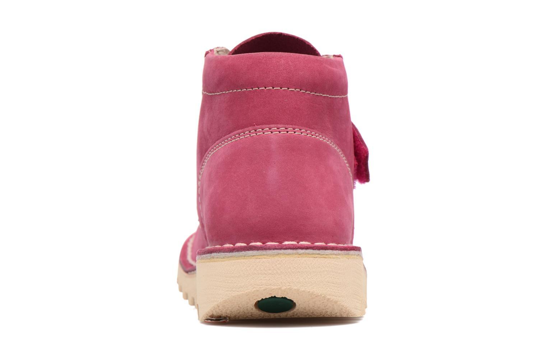 Chaussures à scratch Kickers Neokrafty Rose vue droite