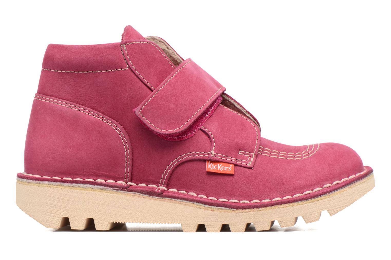 Chaussures à scratch Kickers Neokrafty Rose vue derrière