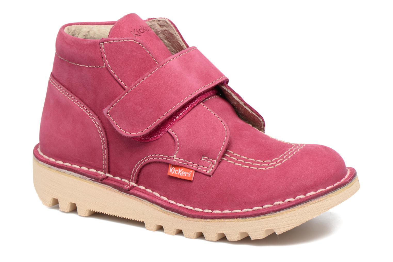 Chaussures à scratch Kickers Neokrafty Rose vue détail/paire