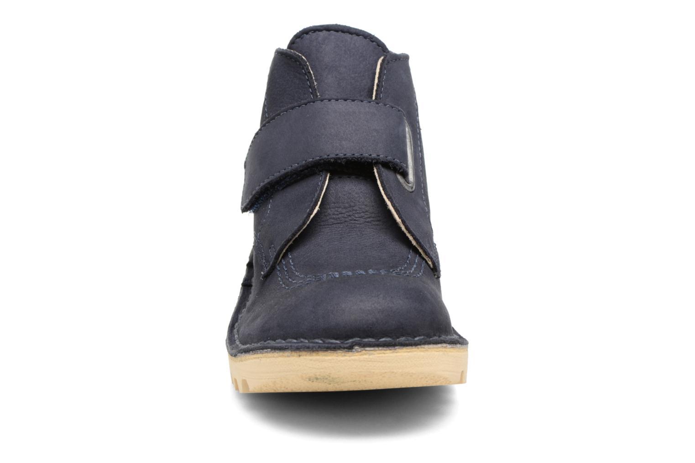 Chaussures à scratch Kickers Neokrafty Bleu vue portées chaussures