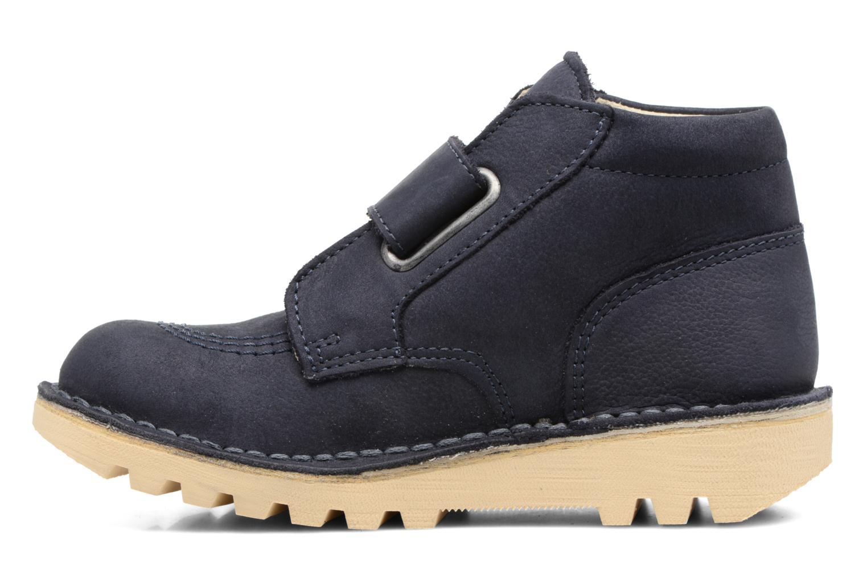 Chaussures à scratch Kickers Neokrafty Bleu vue face