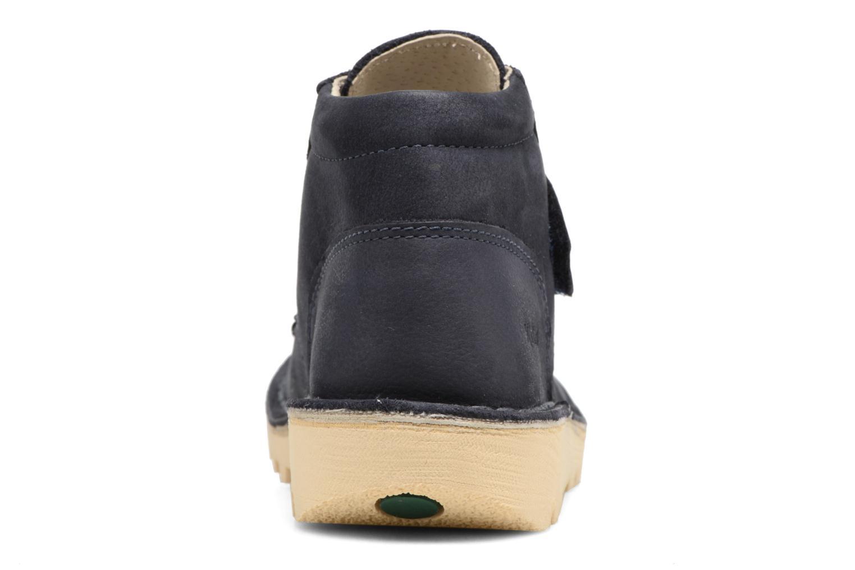 Chaussures à scratch Kickers Neokrafty Bleu vue droite