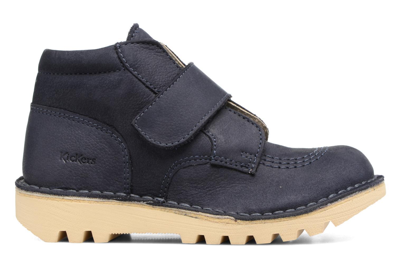 Chaussures à scratch Kickers Neokrafty Bleu vue derrière