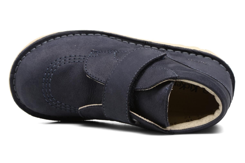 Chaussures à scratch Kickers Neokrafty Bleu vue gauche