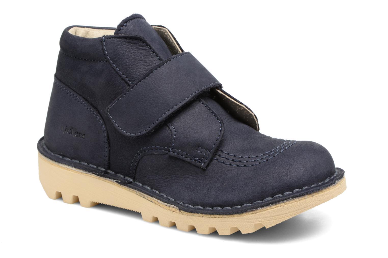 Chaussures à scratch Kickers Neokrafty Bleu vue détail/paire